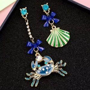 Betsey Johnson Crab and Seashell Earrings